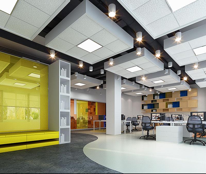 办公室装修设计图效果图平面图