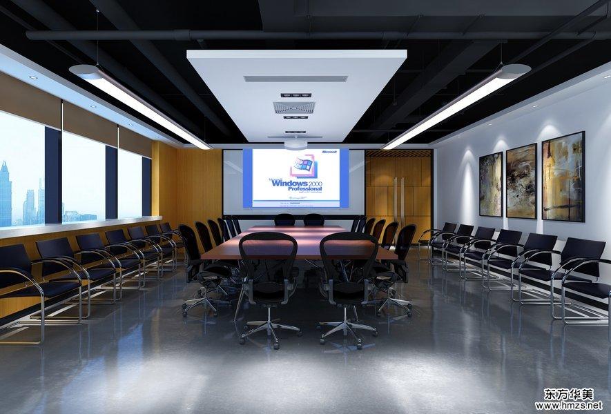 科技公司办公室会议室装修效果图