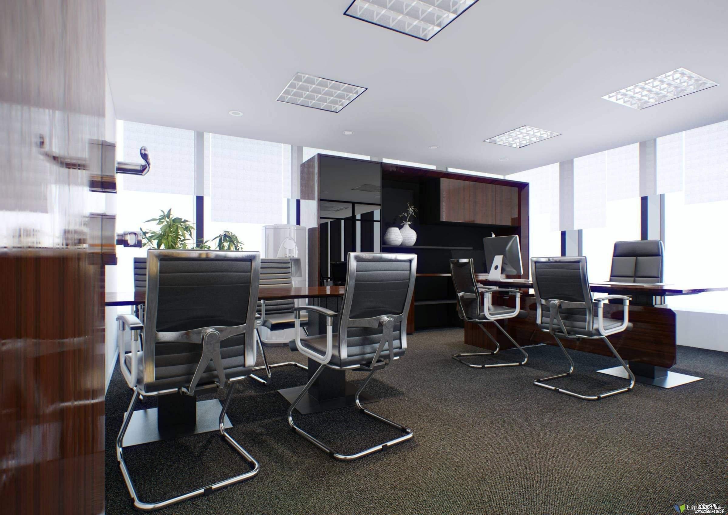 小户型的办公室在装修中把我好色彩搭配,那么大方向是不