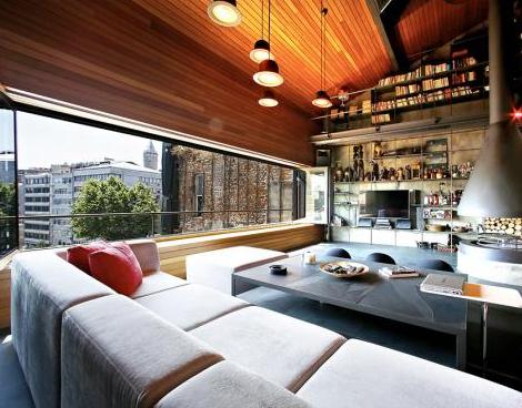 狂野复古—土耳其loft单身公寓设计