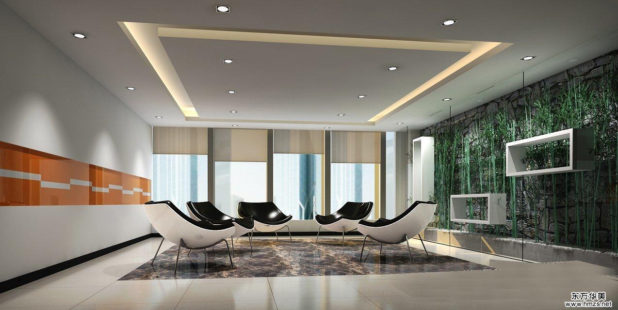 办公室内装修不同区域灯光设计